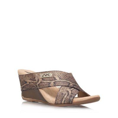 Anne Klein Beige Comb ´Lorri2´ Wedge sandal - . -