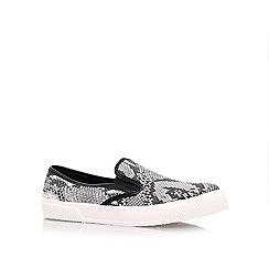 Miss KG - Black/Comb 'Leo' flat sneakers
