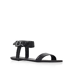 Carvela - Black 'Berlin' flat stappy sandal