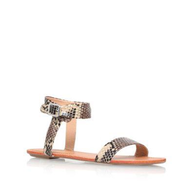 Carvela Beige combination ´Berlin´ flat stappy sandal - . -