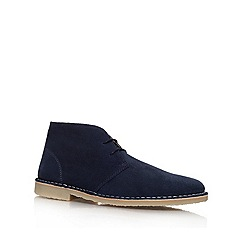 KG Kurt Geiger - Navy 'Arliz' Lace-up boots