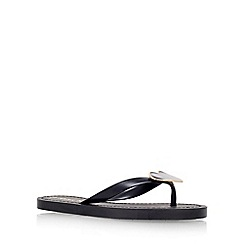 Miss KG - Black 'Jessica' flat toe post sandal