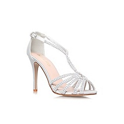 Miss KG - Silver 'Pepper' high heel strappy sandal