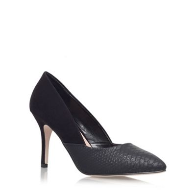 Miss KG Black Savannah high heeled court shoe