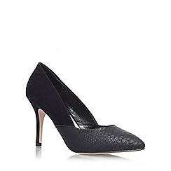 Miss KG - Black 'savannah' high heeled court shoe