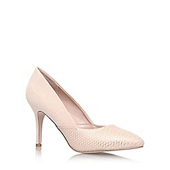 Miss KG - Nude 'savannah' high heeled court shoe