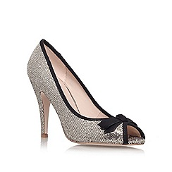 Miss KG - Bronze 'serena' high heeled peep toe court shoe