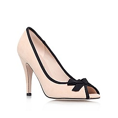 Miss KG - Nude 'serena' high heeled peep toe court shoe