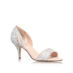 Miss KG - Silver 'Isla' mid heel sandal