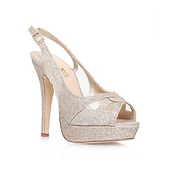 Miss KG - Gold 'Isobel' High heeled peep toe sling back