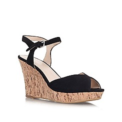 Nine West - Black 'Bigeasy' Leather wedge