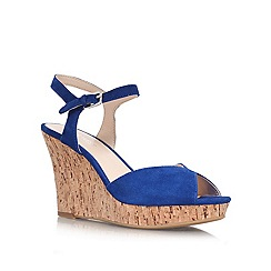 Nine West - Blue 'Bigeasy' Leather wedge