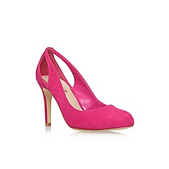 Miss KG - Pink Comb 'Bernadette' high heel cut out detail court shoes