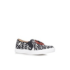 Miss KG - Black and white 'Loretta' flat slip on sneaker