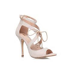 Miss KG - Nude 'Fleur' high heel lace up sandal