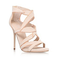 Carvela - Nude 'Geneva' high heel astrappy shoe boots