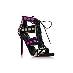 Carvela - Black 'Giraffe' high heel lace up strap sandal