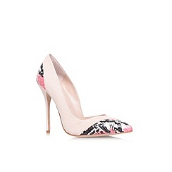 Carvela - Nude 'Aztec' high heel court shoe