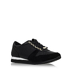 Carvela - Black 'Libby' flat lace up trainer