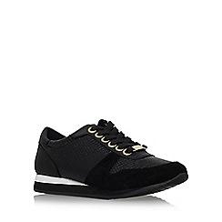 Carvela - Black 'Libby' flat lace up trainer