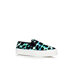 Carvela - Green 'Lux' flat slip on sneaker