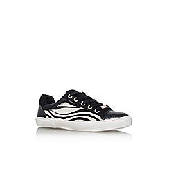Carvela - Blk/other 'light' flat lace up print trainers