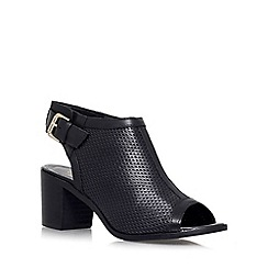 Carvela - Black 'Audrey' mid heel shoe boot
