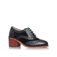 Carvela - Black 'ART' Low block heel lace up brogue style shoe