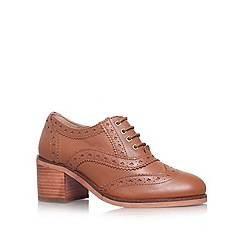 Carvela - Tan 'ART' Low block heel lace up brogue style shoe