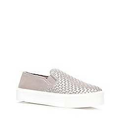 Carvela - Pewter 'Largos'  flat slip on