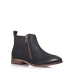 Miss KG - Black 'Spitfire' leather flat ankle boot