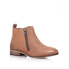 Miss KG - Brown 'spitfire' leather flat ankle boot