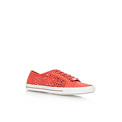Carvela - Red/other 'Lantern' flat lace up sneaker