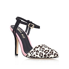 Miss KG - Pink comb 'adele' high heeled printed court shoe