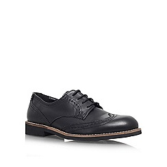 Carvela - Black 'Look' flat lace up brogue