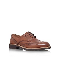 Carvela - Tan 'Look' flat lace up brogue