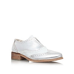 Carvela - White/comb 'Lend' flat lace up brogue