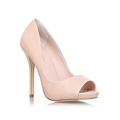 KG Kurt Geiger - Nude 'DREAMIE' High heeled peep toe court shoe