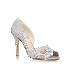 Miss KG - Silver 'Gretal' high heel court shoe