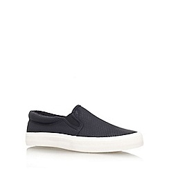Miss KG - Black 'leon' flat slip on trainer