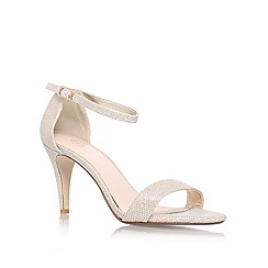 Carvela - Gold 'KIWI' High heeled ankle strap court