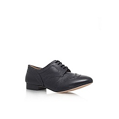 Miss KG - Black 'Melody' flat lace up shoe