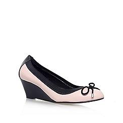Carvela - Nude 'KOOK' Low wedge heeled slip on pump