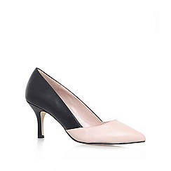 Carvela - Black/Comb 'KASIA' Mid heeled court shoe