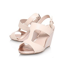 Carvela - Nude 'sammy' high wedge heeled sandal