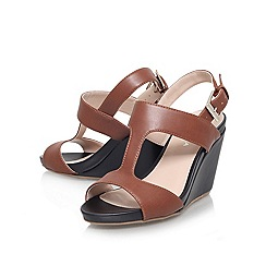 Carvela - Tan 'sammy' high wedge heeled sandal