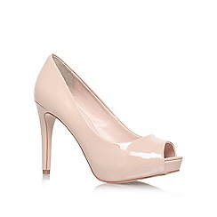 Carvela - Nude 'Lara' High heel peep toe court shoe