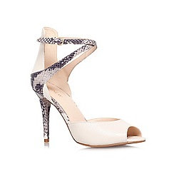 Nine West - Beige Comb 'DOREEN' High heeled peep toe court shoe