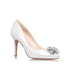 Nine West - Silver 'GLOVER' High heeled embellished court shoe