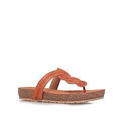 Nine West - Brown 'RASPY' Low platform toe post sandal